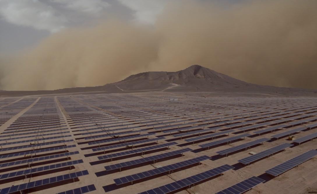 solar panel dust