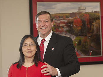Stony Brook University President Samuel L. Stanley Jr., MD, and his wife, Dr. Ellen Li, a renowned gastroenterologist and research scientist at Stony Brook Medicine, announced that they are making a $50,000 donation to Stony Brook Children's Hospital in honor of Dr. Li's parents, Mary and Henry Li.