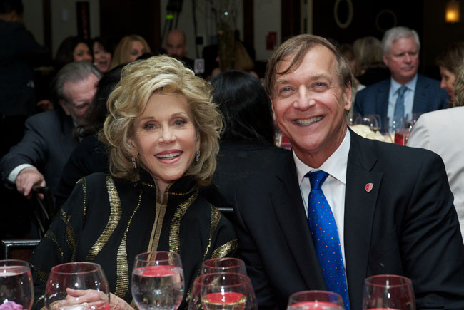 Jane Fonda and President Stanley.