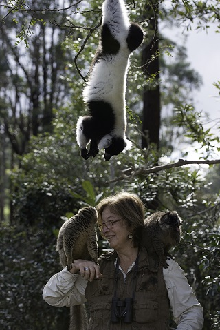 1pat wright with lemurs in madagascar
