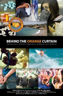 Behind the orange curtain collage