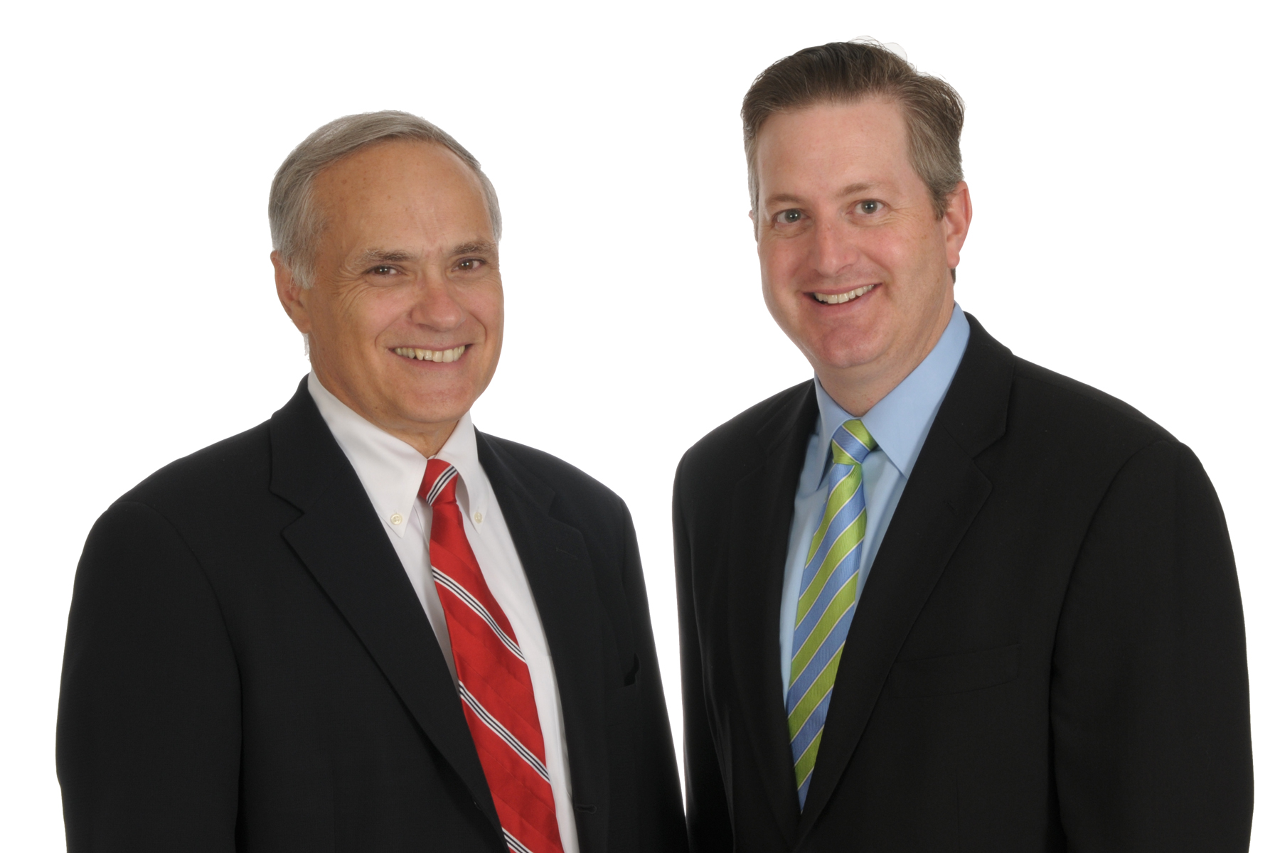 Former CMO Tom Biancaniello (left) with new CMO Todd Griffin