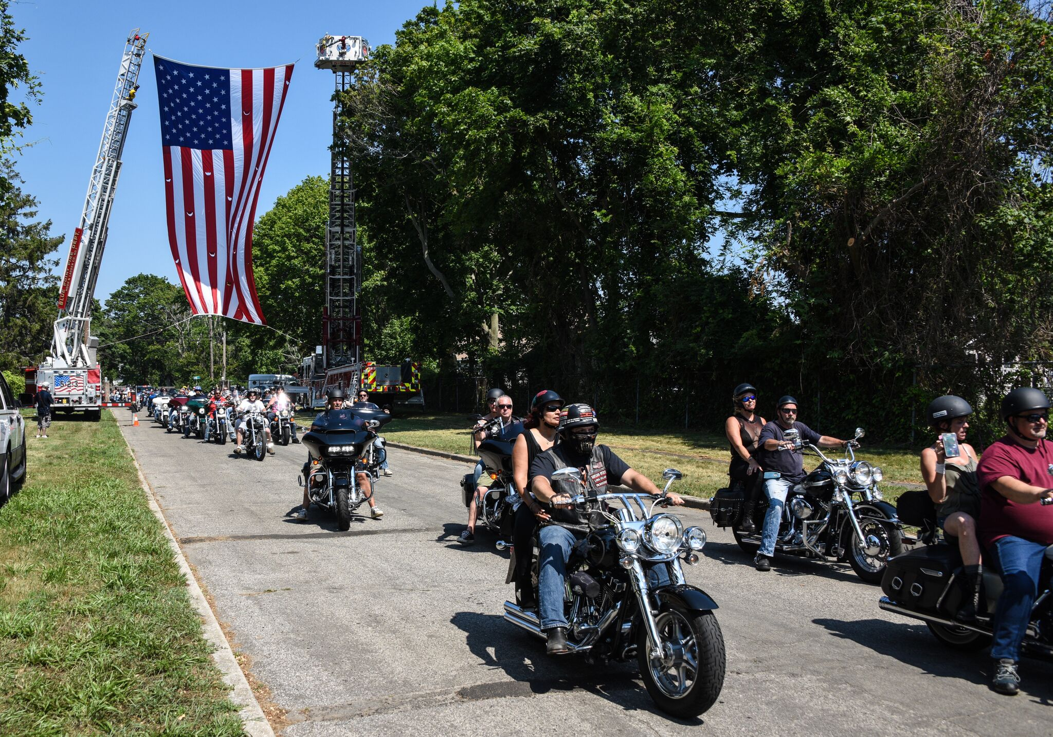 Riders hit the road for the 10th Annual Sticky Finger Motorcycle Run. Photo credit: Mac Titmus