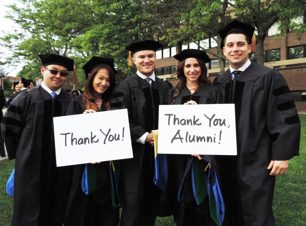 Thank you to our alumni and friends for making this momentous day possible for our School of Medicine graduates!