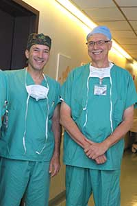 (left to right) Alexander Dagum, MD, Chief of Plastic Surgery, Stony Brook Medicine and Dr. Leon Klempner, associate professor of dentistry, Stony Brook University, who founded the non-profit organization Smile Rescue Fund for Kids