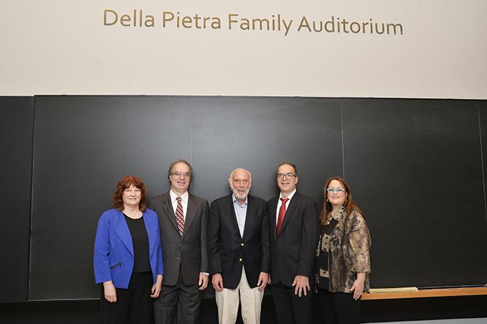 From left to right: Barbara Amonson, Vincent Della Pietra, Jim Simons, Stephen Della Pietra and Pamela Hurst-Della Pietra