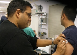 Dr. shah issuing vaccine 1