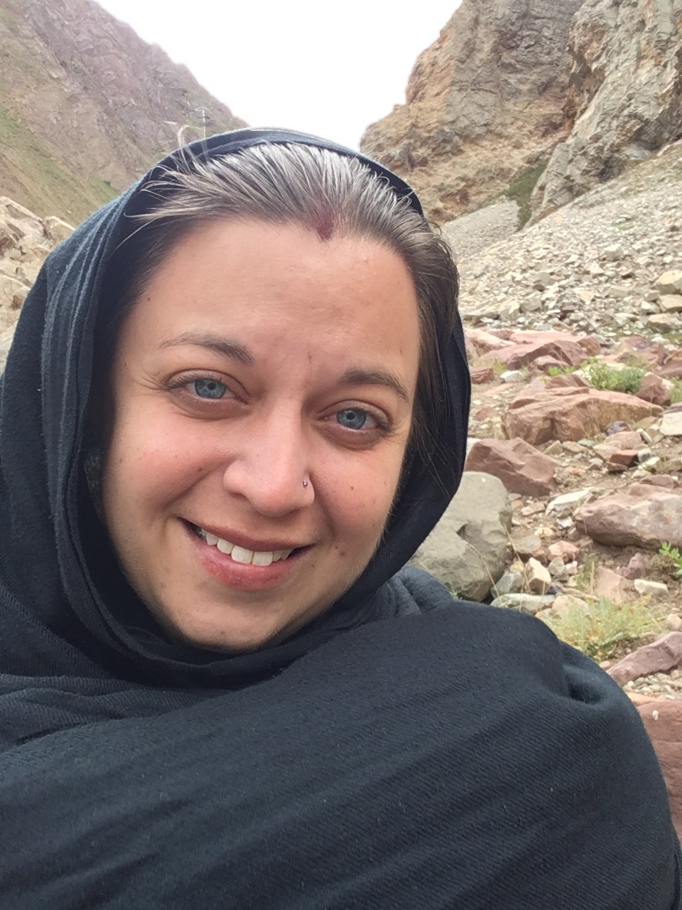 PhD student Erica Mukherjee in India