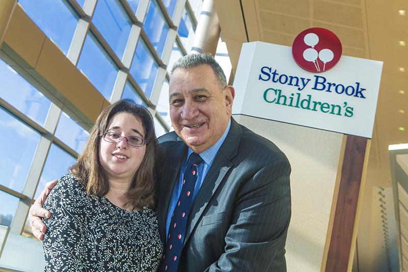 Stony Brook, NY; Stony Brook University Medical Center: Peter Ferentino and his grand daughter Felicia