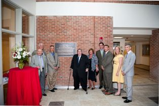 Freyhall ribbon cutting at dedication placque articlemanager