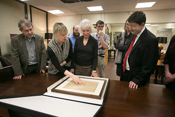 Gardiner foundation visits special collections sized