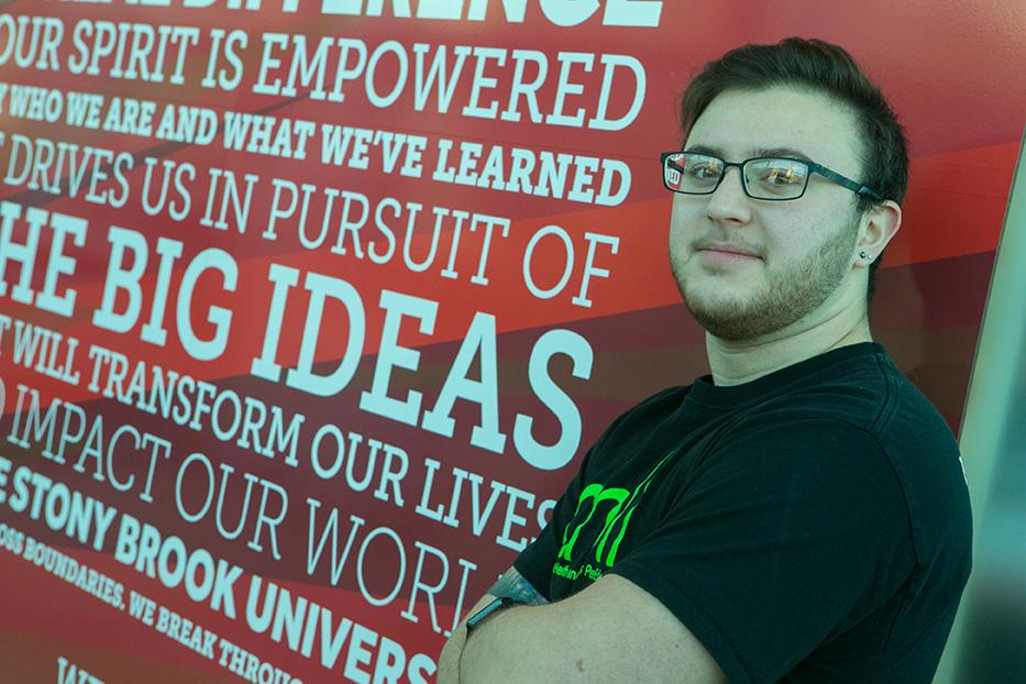 CHILL student health intern Fallon Gilbert in the SAC.