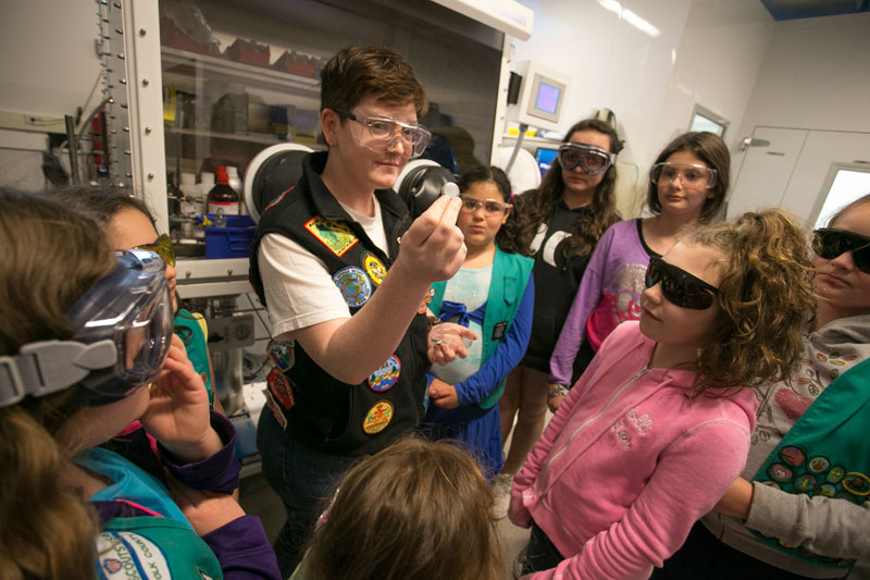 Girl scouts at aertc
