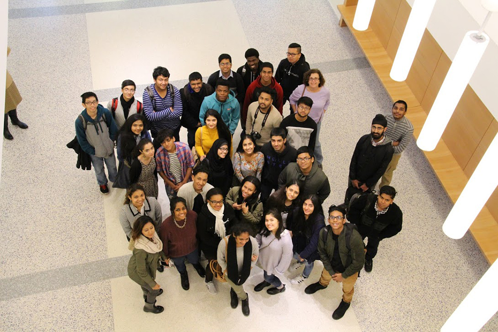 Students from Hillcrest visited campus