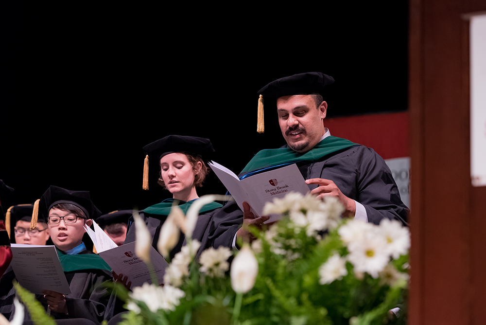 All of the graduates recited the Physicians' Oath for the first time as MDs.