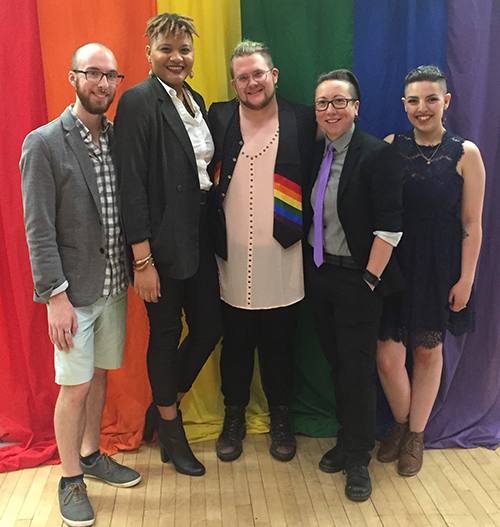Stony Brook's LGBTQ* Services team