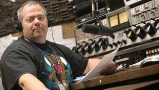 Mark klein at wusb radio studio