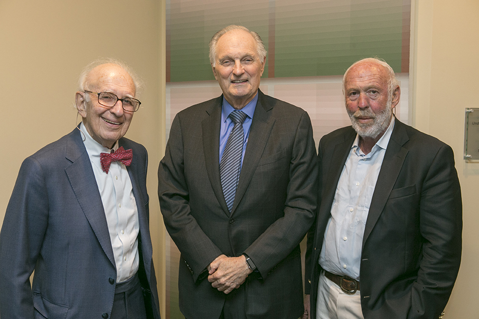 Stony Brook, NY; Stony Brook University; Staller Center: 20 Years of MIND/BRAIN: Melding the Mind & Math: Brain Science, Past and Future Eric Kandel. MD, Alan Alda, and Jim Simons, PhD
