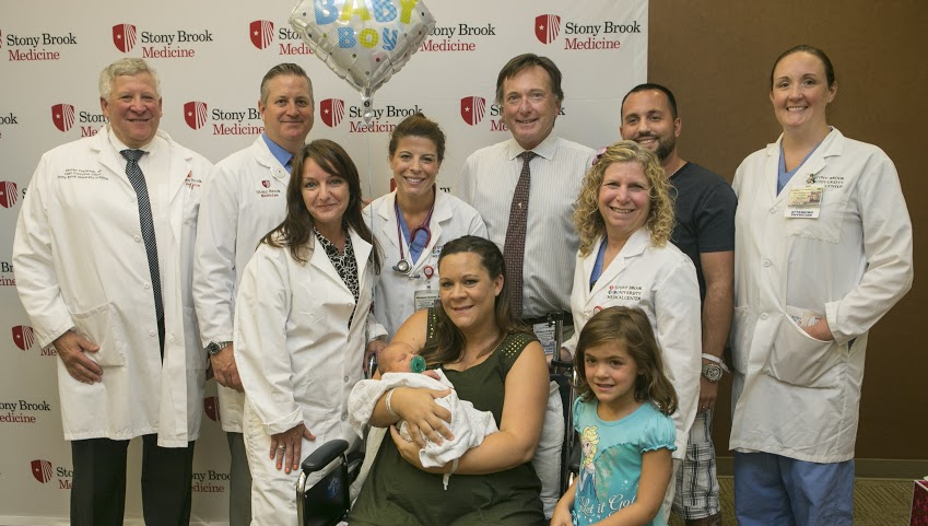 Picarella family with dr. pasternak and other members of clinical team