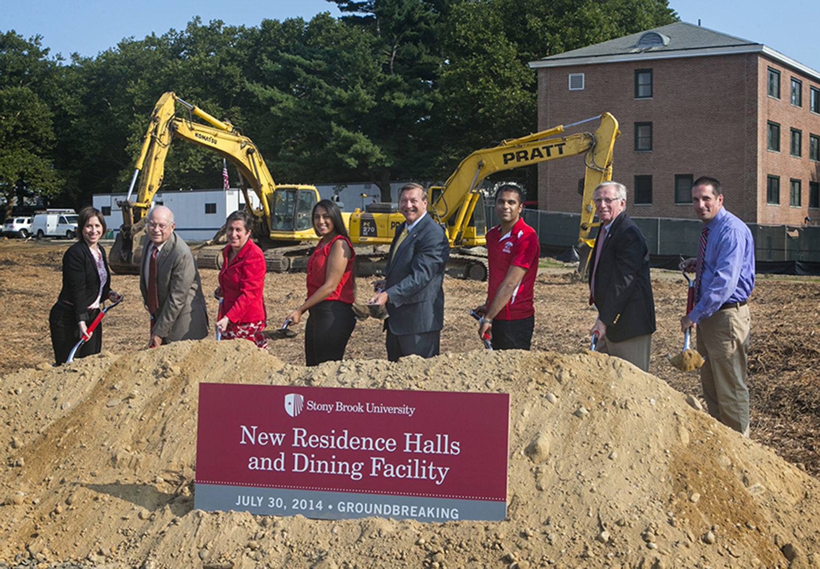 Res hall groundbreak 7 14