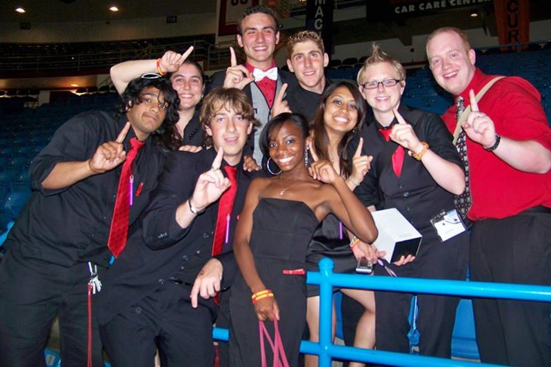The new 2009-10 RHA Executive Board and Advisors accepts three national awards at the NACURH Conference in Arizona.