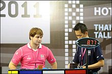 Rowe Hessler competing in the Rubik's Cube World Championships 2011 in Thailand.