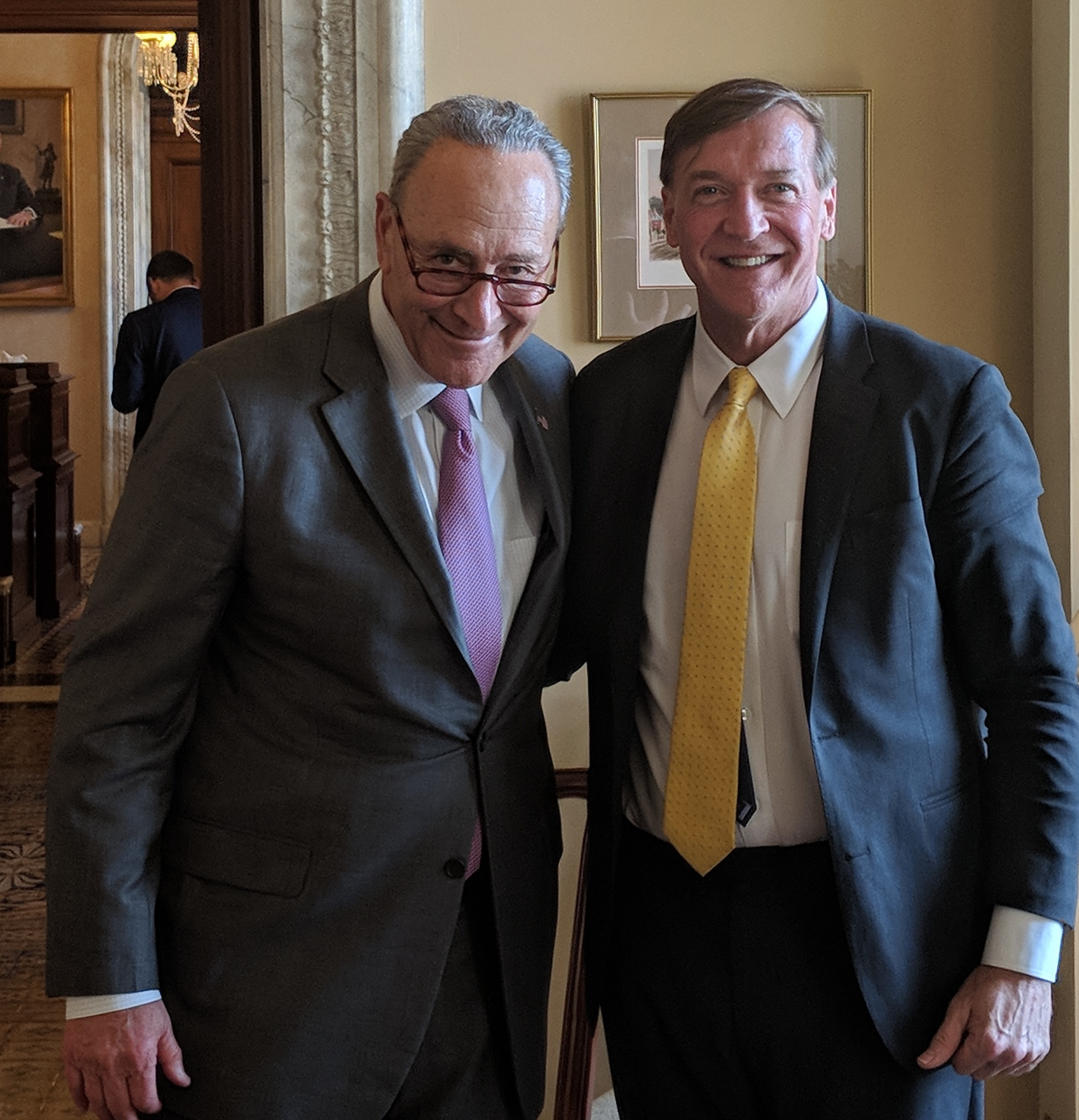 Schumer and pres stanley may 2018 meeting