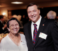 Donor Bobbie Wien with Stony Brook President Stanley at December President's Circle Event