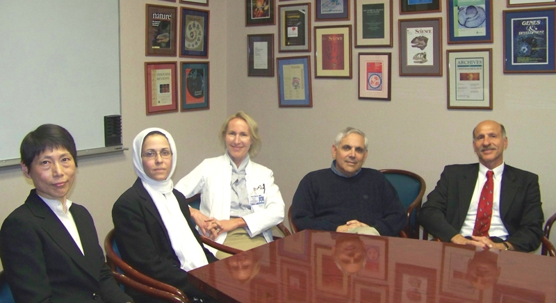 From left: Hsien-yu Wang, Soosan Ghazizadeh, Ute Moll, Ira S. Cohen, and Wadie F. Bahou