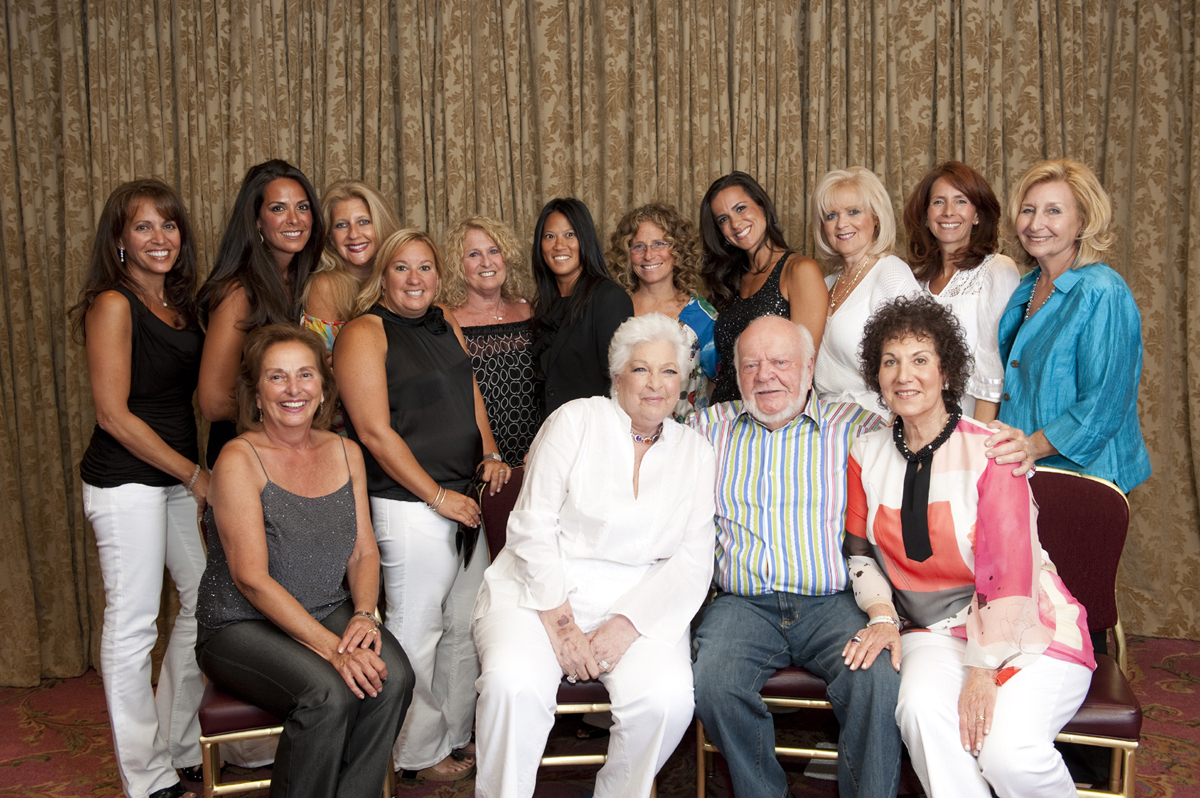 The 2009 SUmmer Soiree Committee with honorees Cynthia and George Marks (front, center), along with Merry Slone (front, far right), founder of the event.