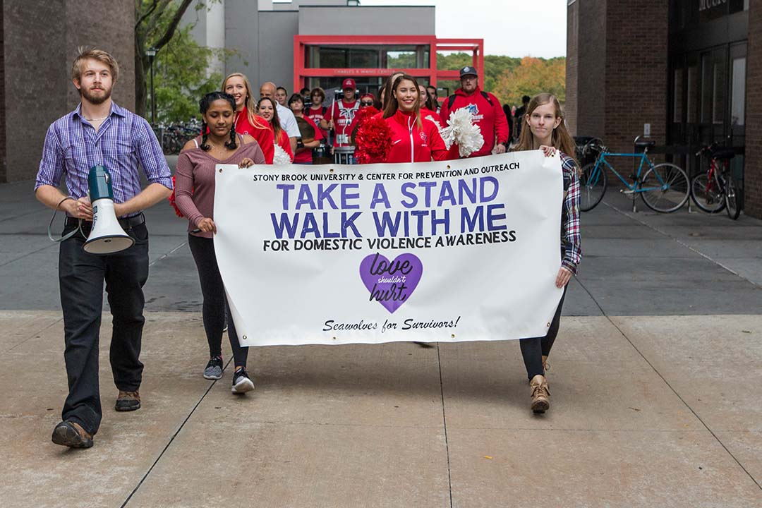 Take a Stand, Walk with Me march against domestic violence.