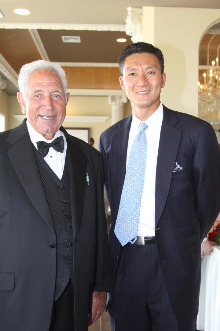 Filippo Lombardi and Henry Woo at the new Lombardi's on the Bay