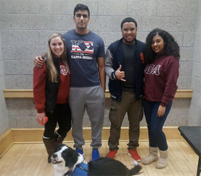 Left to right: IFSC Executive Board members: Bianca Franza (President), Ahmed Khokar (Vice President), Carlton Johnson (Community Service Chair) and Kristeen Brown (PR Chair).