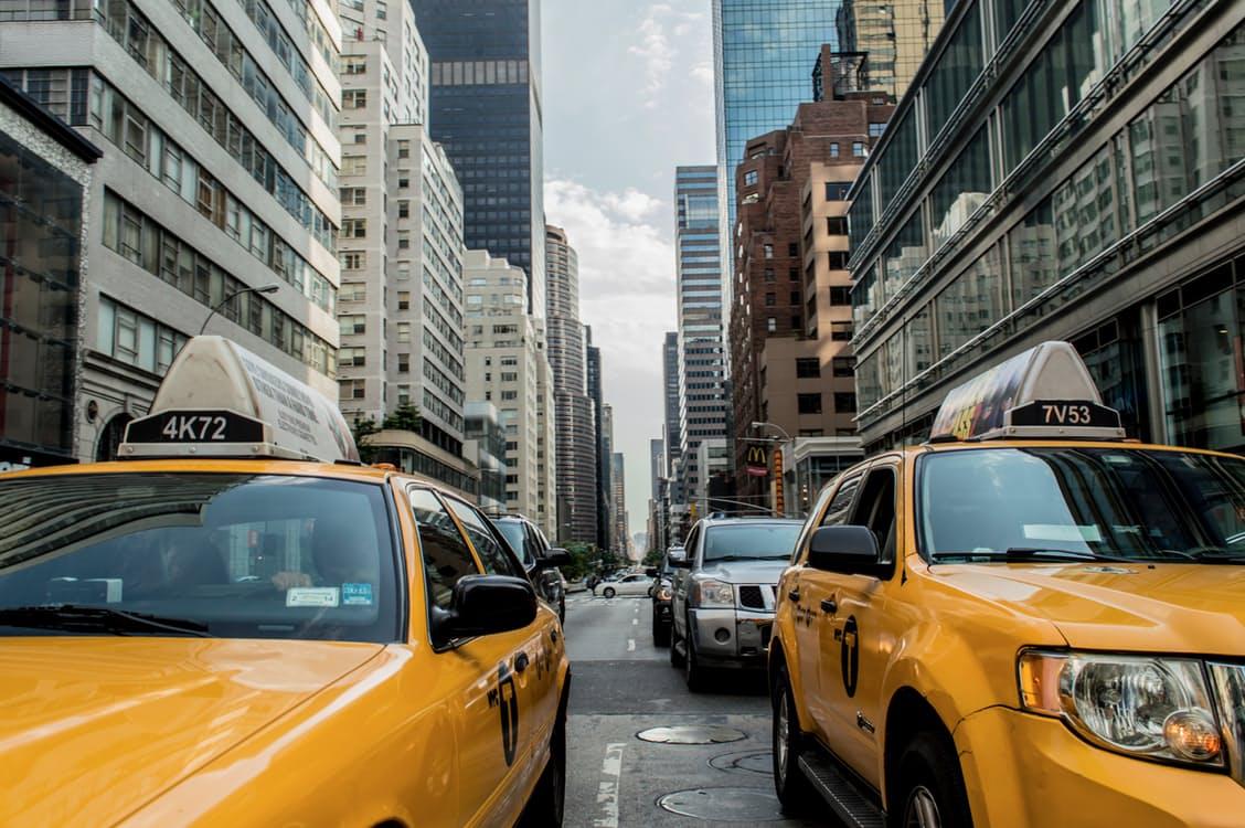 Cars traffic street new york