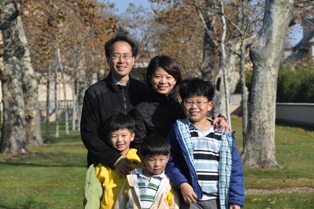 Eugene and Carol Cheng with their sons