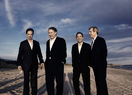 The Emerson String Quartet, left to right: David Finckel, Philip Setzer, Eugene Drucker, Lawrence Dutton.
