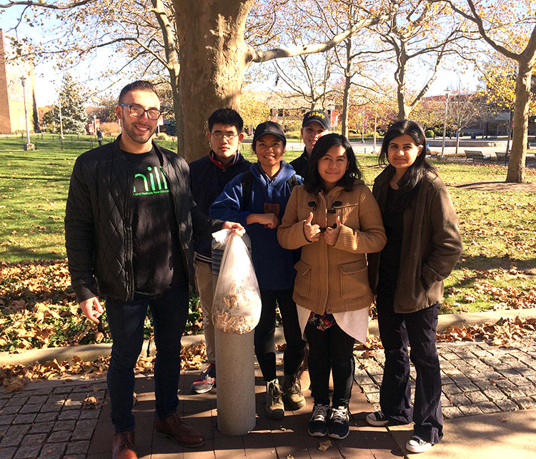The Student Health Advisory Council hosted a tobacco cleanup effort on November 13.