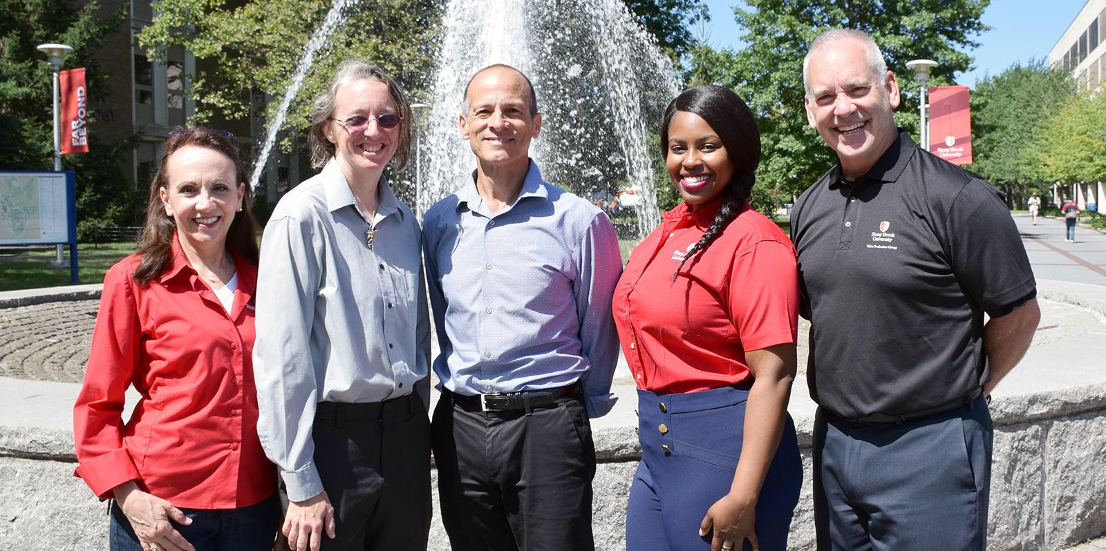 From left to right: Linda Unger, Jennifer Adams, Dr. Peter Small, Tayisha Saint Vil, William Cusick.
