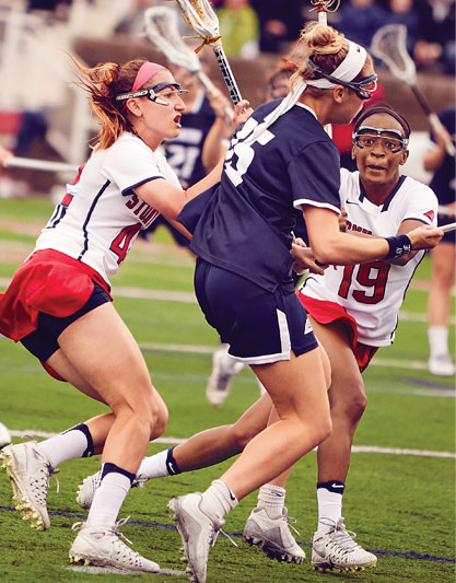 Stony Brook women's lacrosse advanced to the NCAA quarterfinals for the first time in program history in 2017. Though the Seawolves narrowly lost No. 1-ranked Maryland in the NCAA tournament, they marked their first 20-win season after dominating the America East conference in virtually every statistical category.