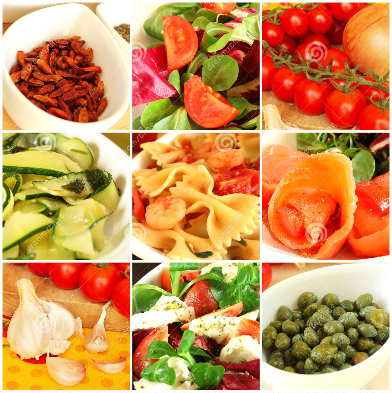 Italian food collage