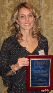 Stony Brook Medicine's Dr. Josephine Connolly-Schoonen received the Health Care Professional Award, one of the 2012 Health Care Heroes awards by the Long Island Business News.