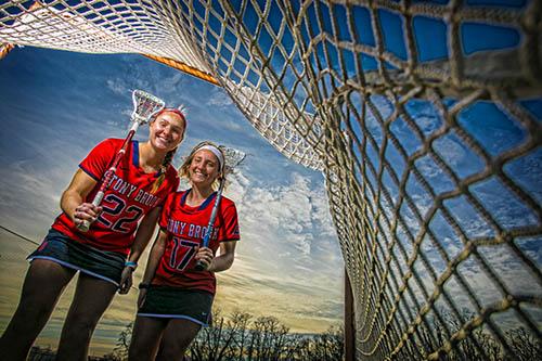 Women's Lacrosse stars Dorrien Van Dyke and Kylie Ohlmiller