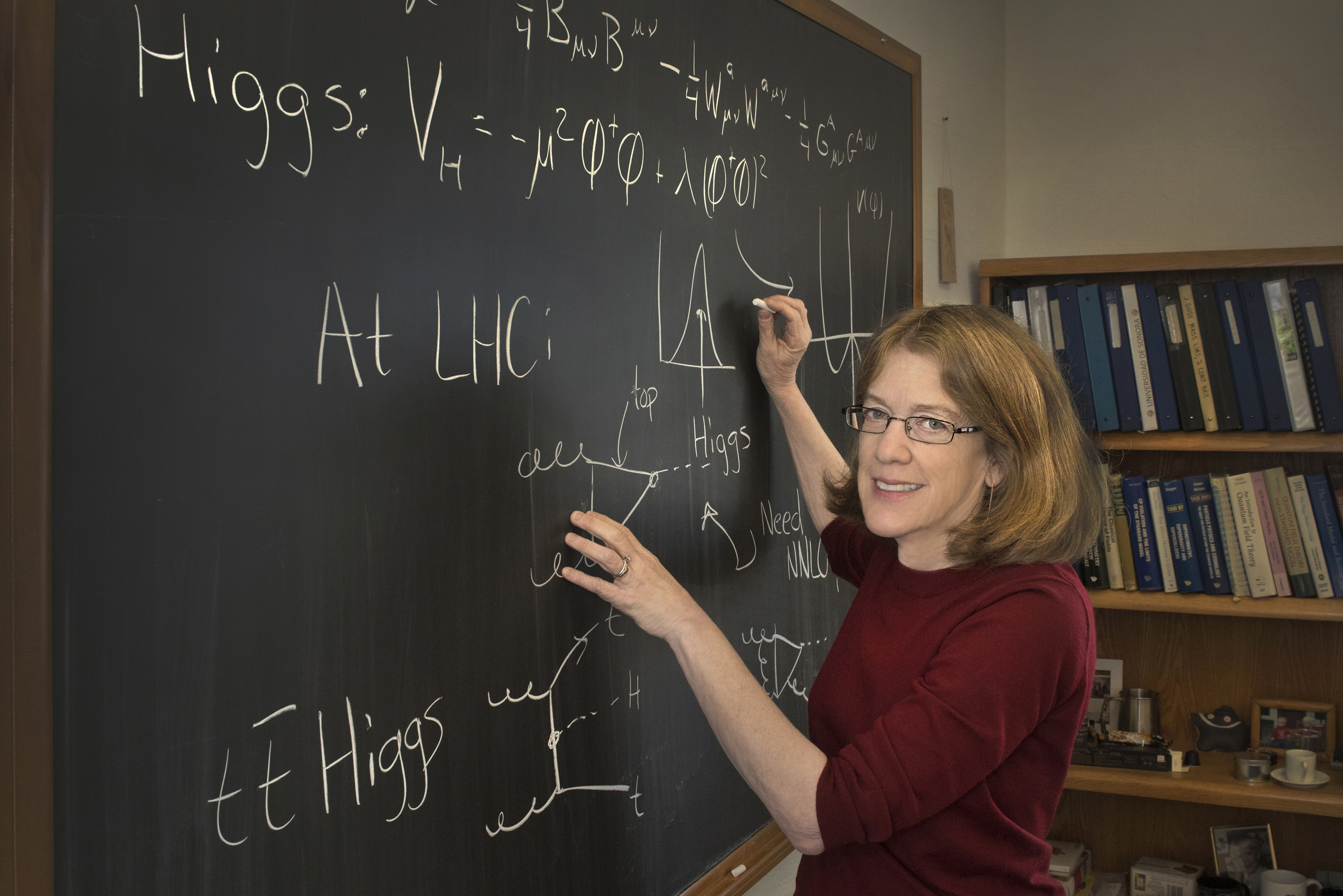 Photo of Sally Dawson courtesy of Brookhaven National Laboratory