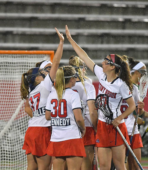 No. 1 Seawolves WLAX Defeats New Hampshire