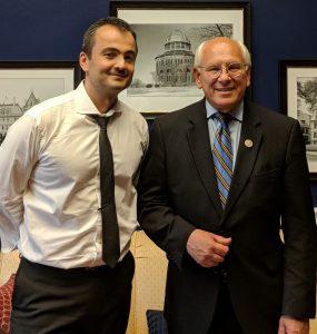 Professor Radu Sion and Congressman Paul Tonko