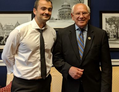 Professor Radu Sion and Congressman Paul Tonko