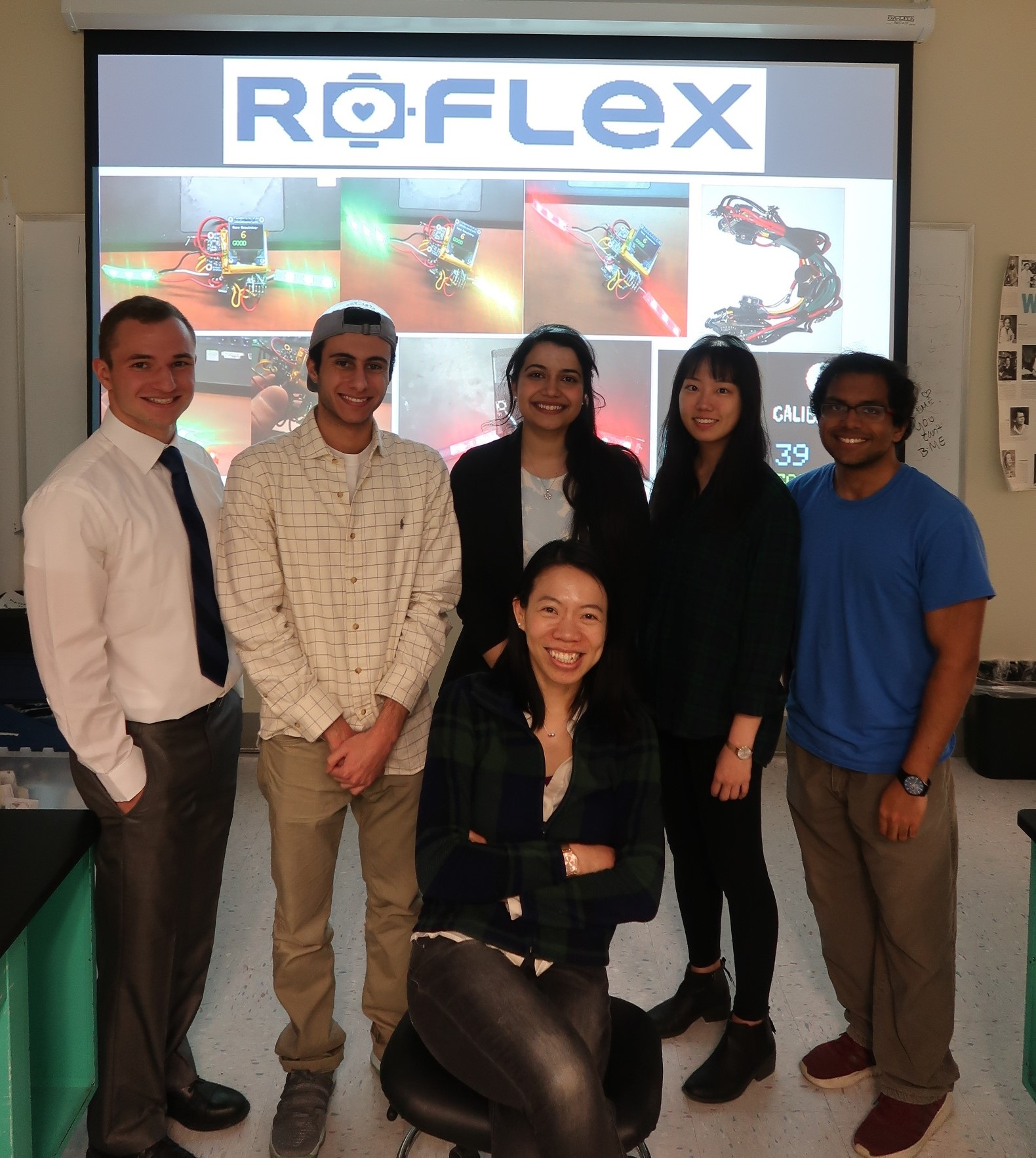 The Roflex team of BME students with project advisor M. Ete Chan.