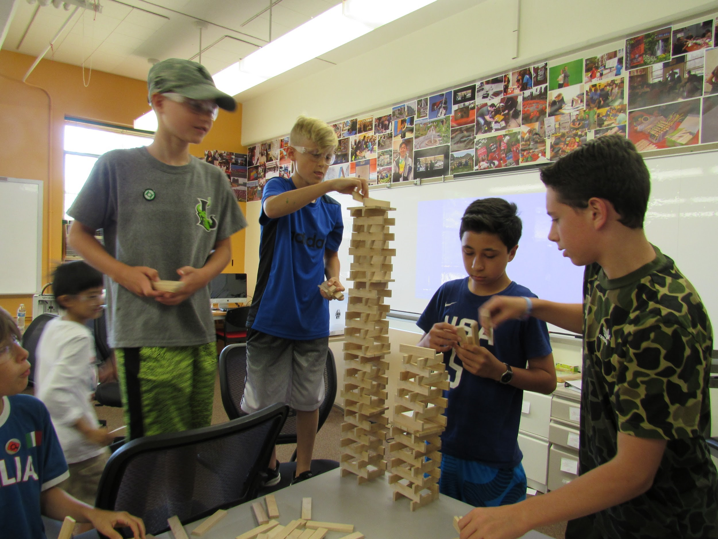 Campers used teamwork and communication to complete their activities.