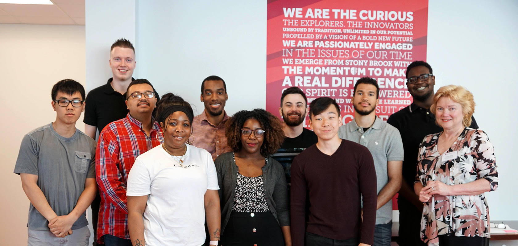 Thirteen students participated in the FSA Summer Internship and worked with a variety of FSA departments. Some of them are (from left to right): Darian Chen, Carson Barnes, Lazaro Rivera, Lasandra Mitchell, Torrin Faison, T'Kheya Yisrael, Eddie Gallagher, William Zhu, Claudio Concepcion, Marquis Sampson and Pat Murray
