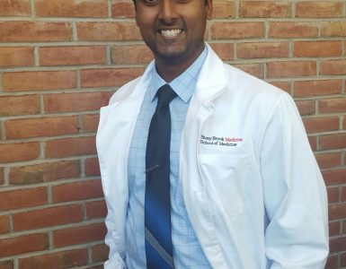 Anirudh Chandrashekar at Stony Brook Medicine's White Coat Ceremony